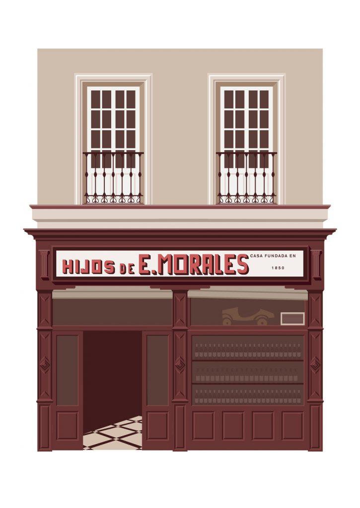Ilustracion del bar Hijos de E.Morales, por Miguel Ferrera para El Tabernario