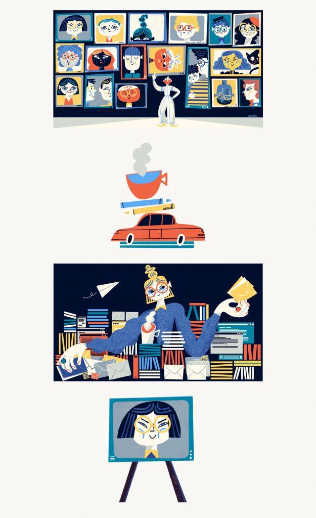 Un nuevo set de ilustraciones de Gosia Herba