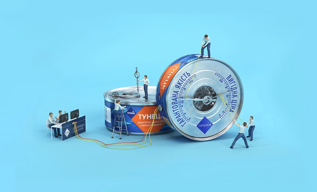 Una ilustracion de Tough Slate Design para Slipo Grocery Store