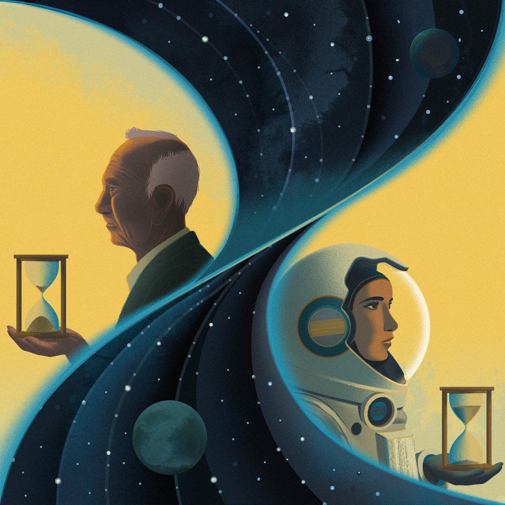 'Twin Paradoxe' ilustracion de Sam Chivers