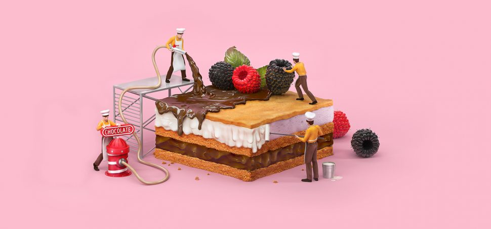 Ilustracion de Tough Slate Design para Slipo Grocery Store