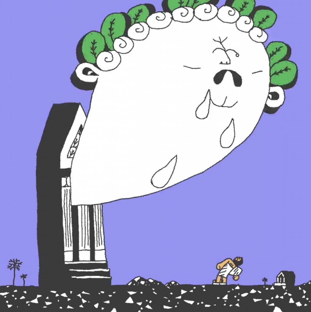 Imagen sobre la tragedia en una de las animaciones de Max Litvinov