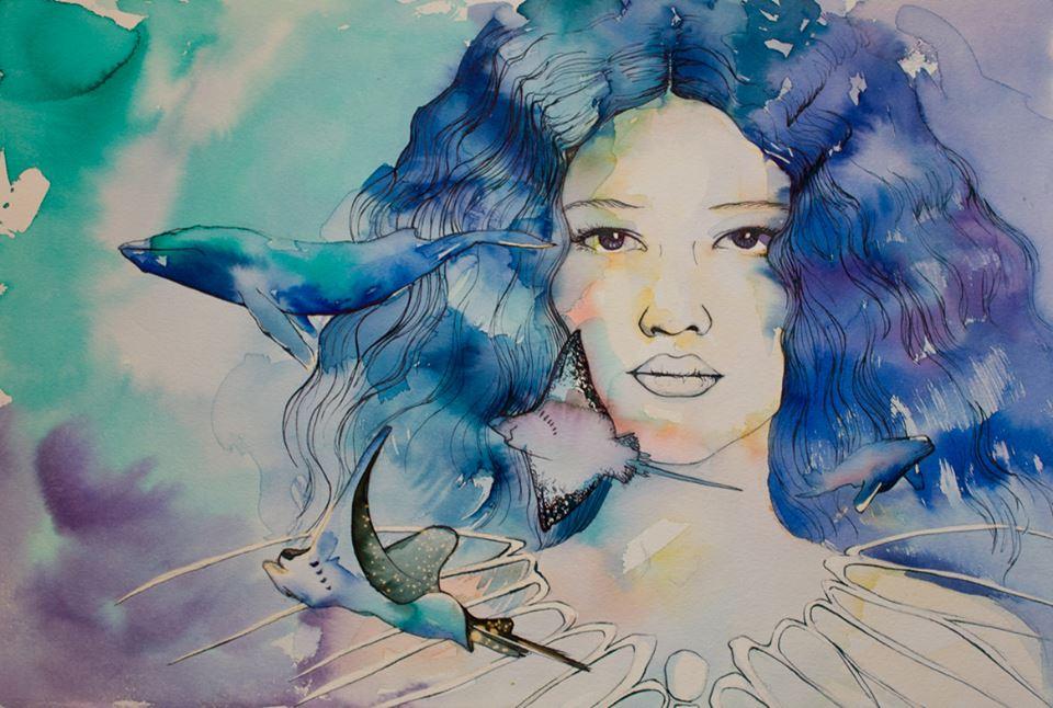 Ceto, una de las ilustraciones de Araceli Garcia para posidonia y el mar