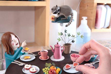 Irma Gruenholz y sus ilustraciones hechas con plastilina