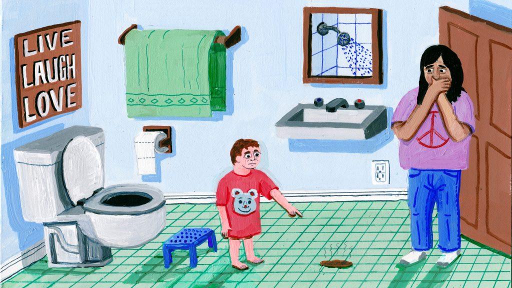 Ilustracion sobre la vida de una niñera, de Brandon Celi