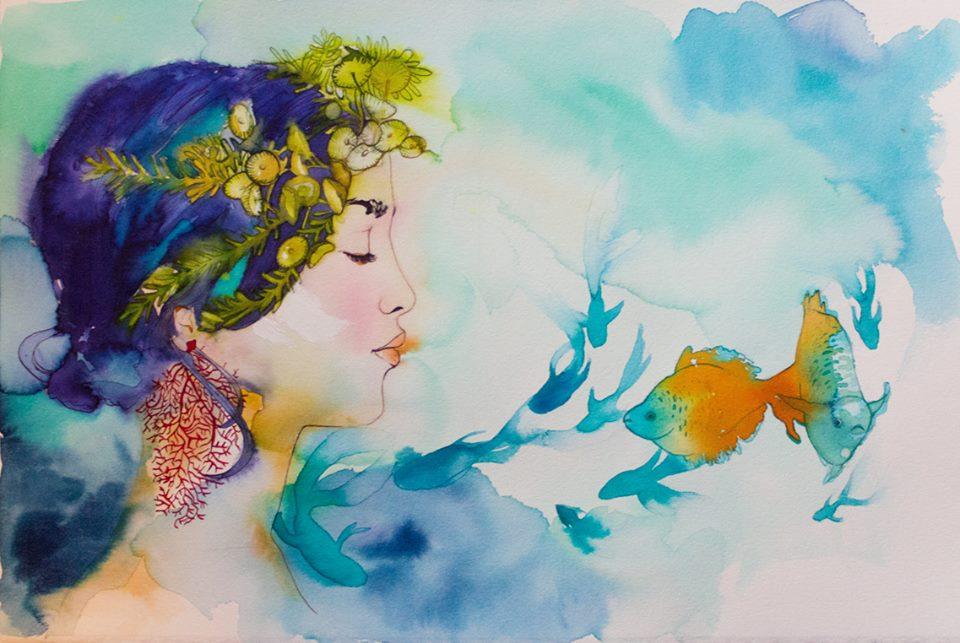 Polinome, una de las ilustraciones de 'Posidonia y el Mar'
