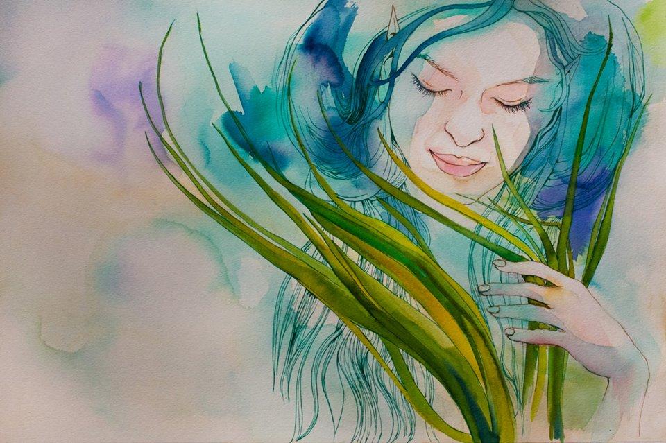 Posidonia, ilustracion de Araceli Garcia