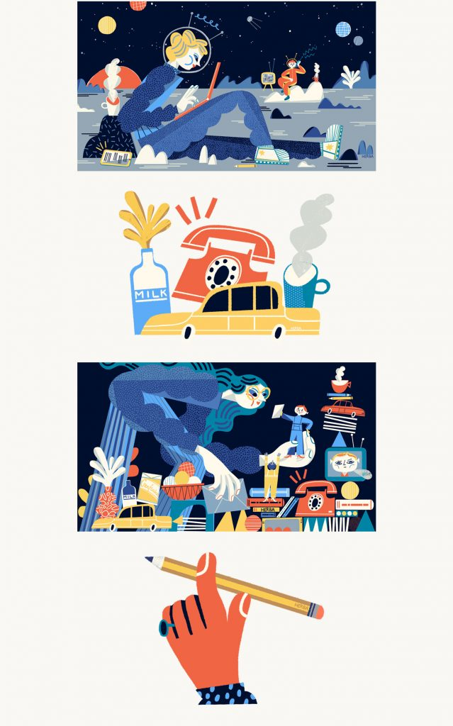 Algunas ilustraciones de Gosia Herba para Quartz
