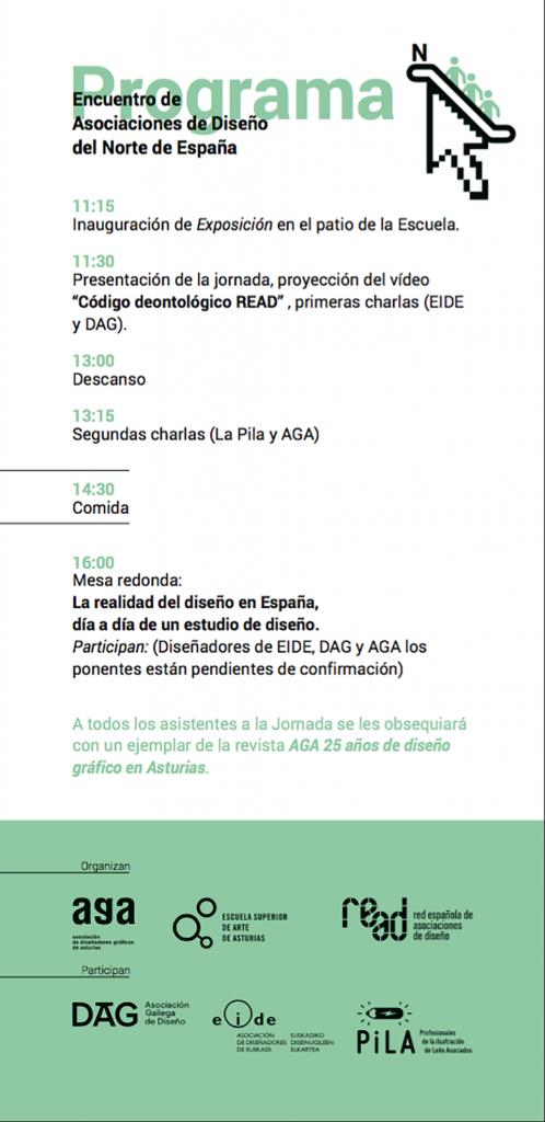 Programa del encuentro Encuentro de Asociaciones de Diseño del Norte de España