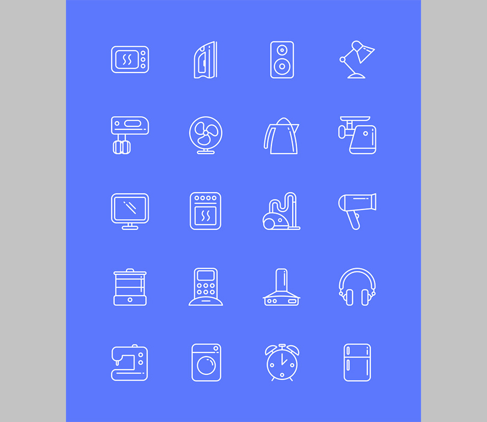 Los 20 Appliances Icons por Artyom Khamitov sobre iconos utiles