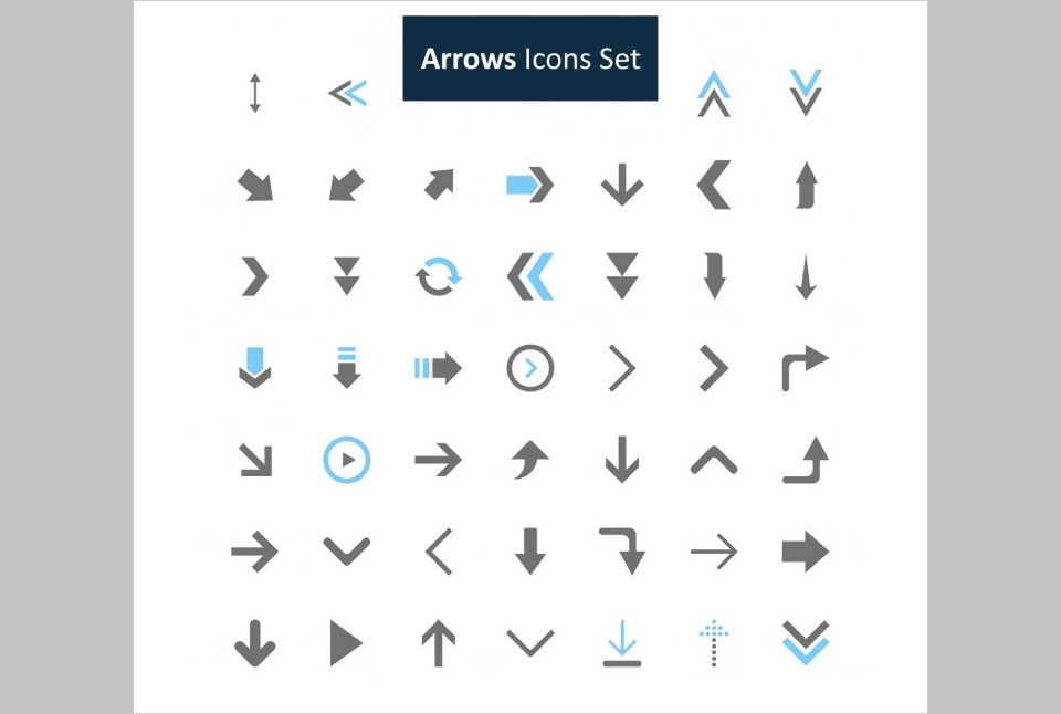 Los 46 Arrows Icons Set de Ibrandify