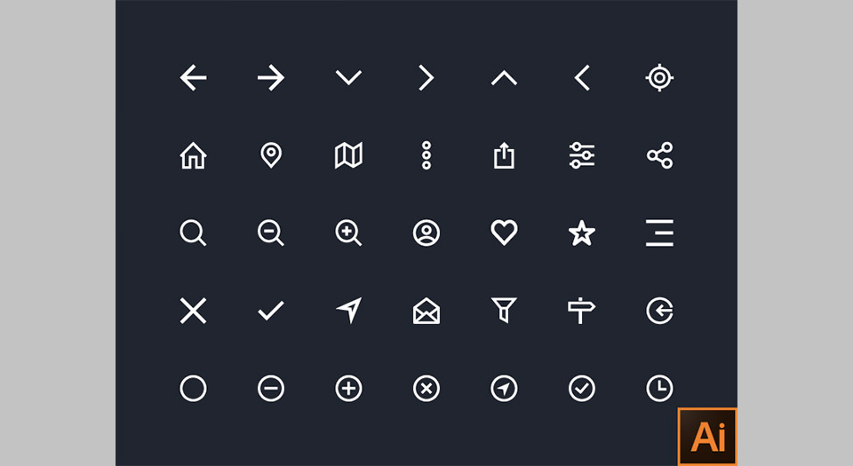 Los 35 Basic Icon Set por Nukul
