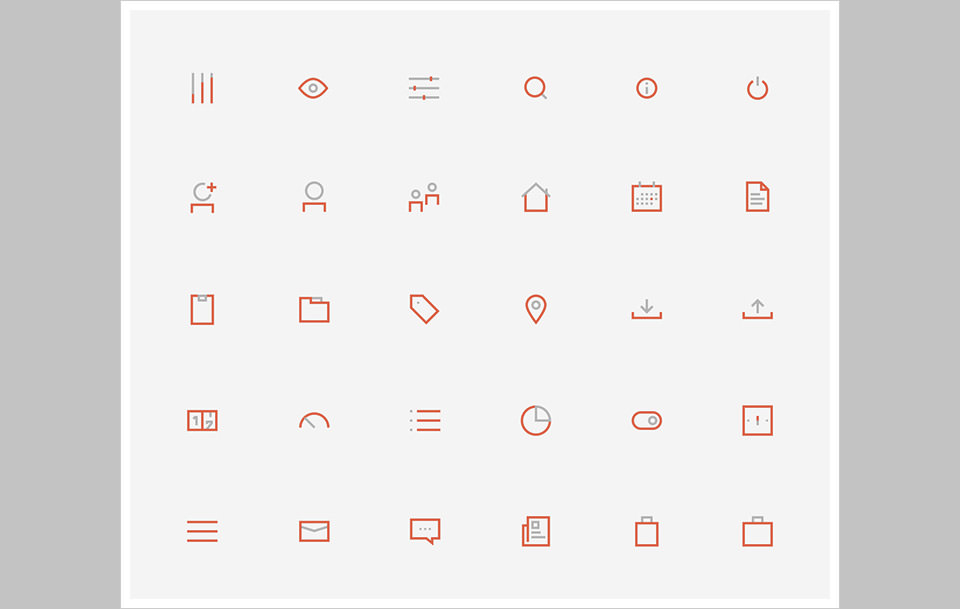 Los 60 BiColored Icons Collection por Gustavo Cramez