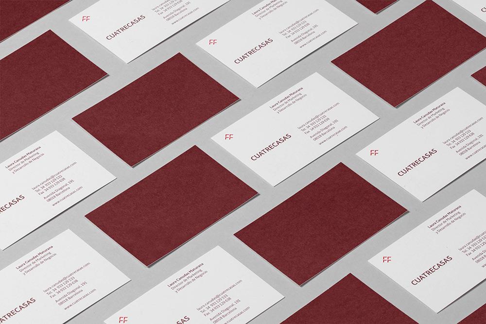 Tipografía Cuatrecasas - tarjetas de visita