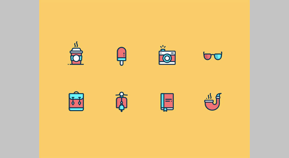 Los 55 Daily UY Day Icons por Marin Begovic