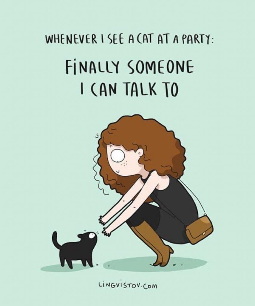 Ilustracion sobre el fin de semana de un introvertido, de Lingvistov