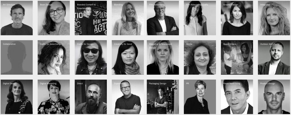 Presidentes del jurado de los Premios D&AD 2018