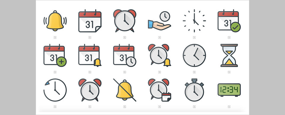 Los 49 Free Icons Time & Calendar por Flaticon