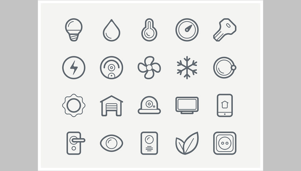 Los 40 Smart House Icons de Roman Malashkov