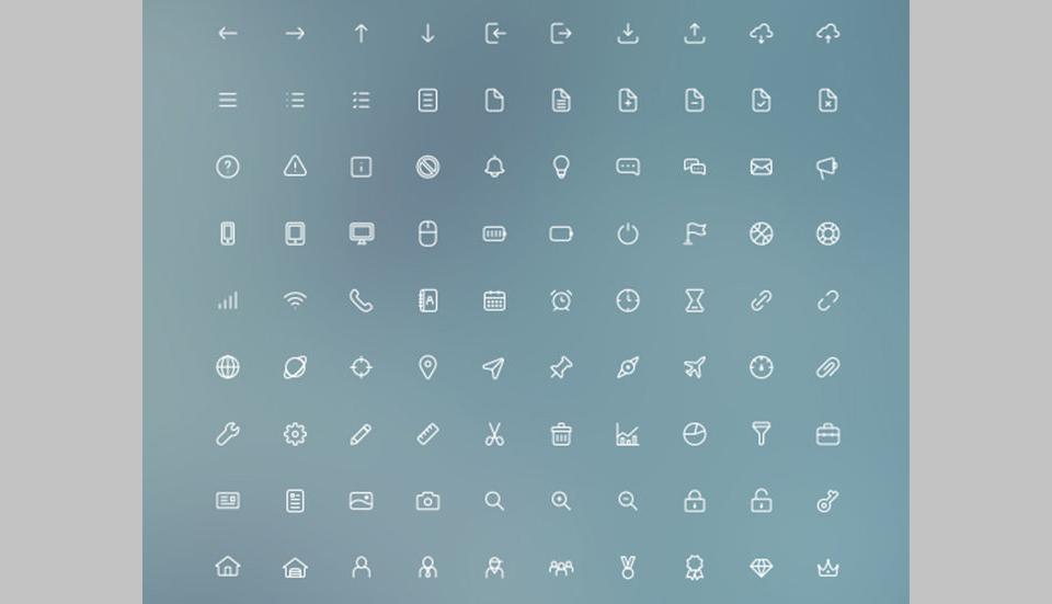 50 sets de iconos útiles y gratuitos para diseñadores web