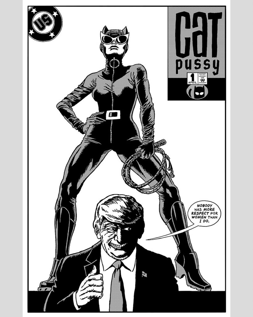 Catwoman y Donald Trump en The Unquotable Trump