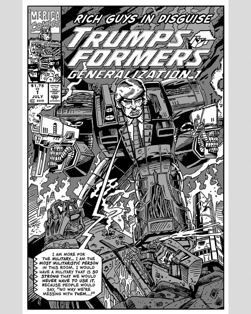 Una de las vinetas del comic de Robert Sikoryak
