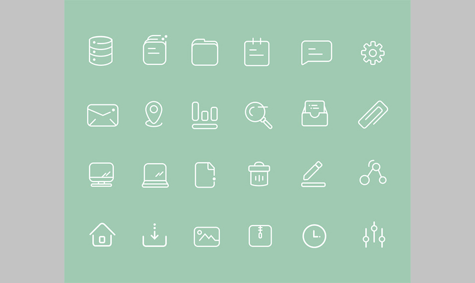 Los 24 User Interface Icons de Worawaluns