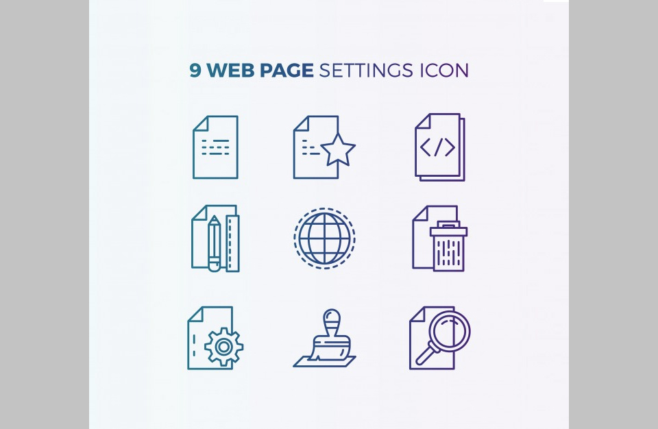 Los 9 Website Icons por Eightonesix