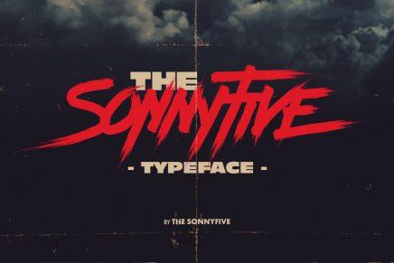 Sonnyfive es la nueva tipografía que recurre a la estética de los años 80