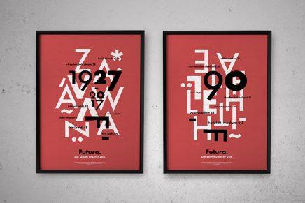 BunkerType crea un cartel en homenaje a la tipografía Futura por su 90 aniversario