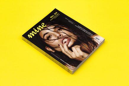 Mine magazine entra en el mundo del papel con una composición geométrica