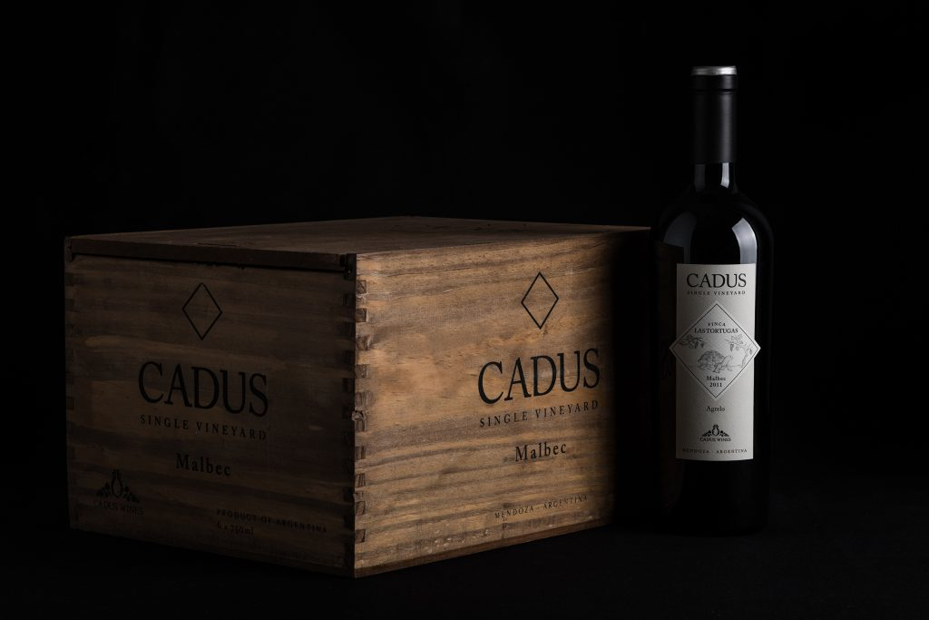 Caja del single vineyard.