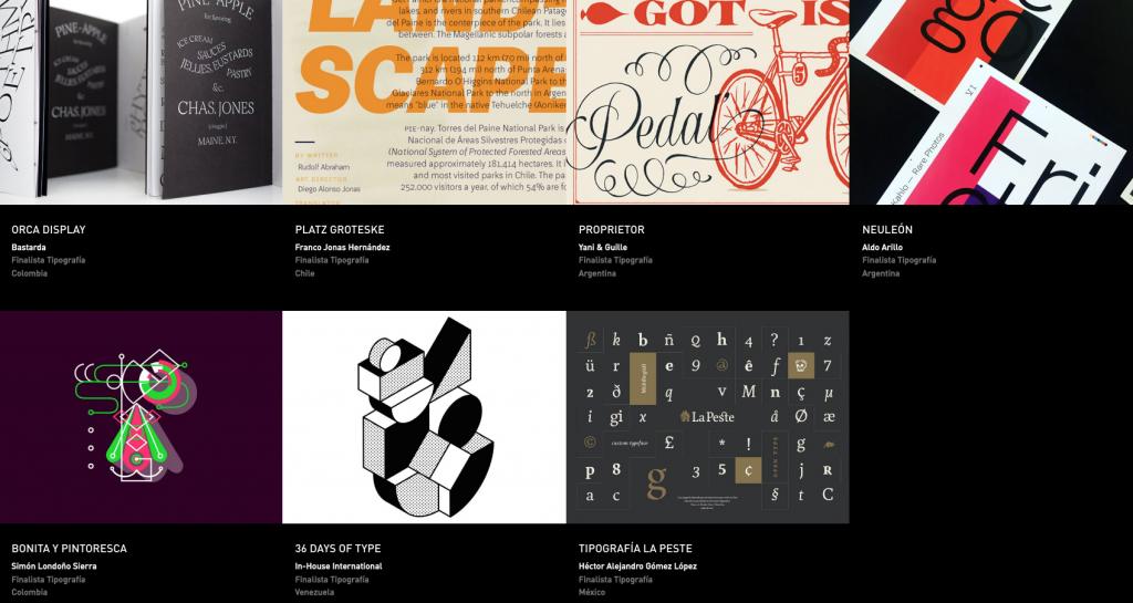 Latin American Design Awards - Tipografía