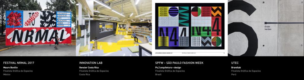 Latin America Design Awards - Gráfica de espacios