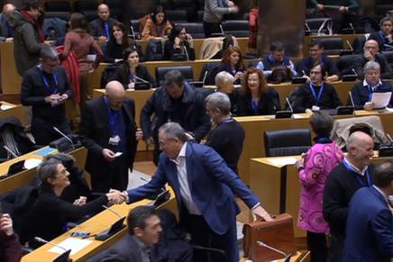 ¿Qué ocurrió en lajornada parlamentaria en torno al diseñoque se celebró en el Congreso de los Diputados?
