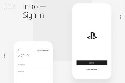 ¿Cómo sería el diseño minimalista de la app de PlayStation?