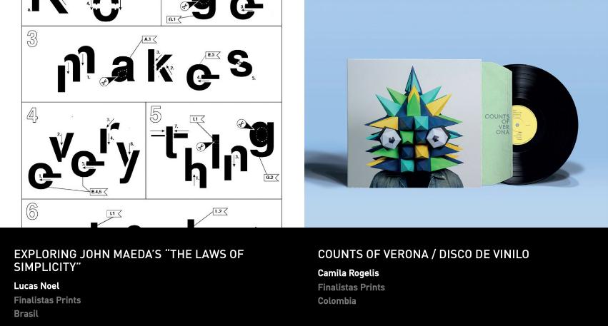 Latin American Design Awards - Print - Estudiantes