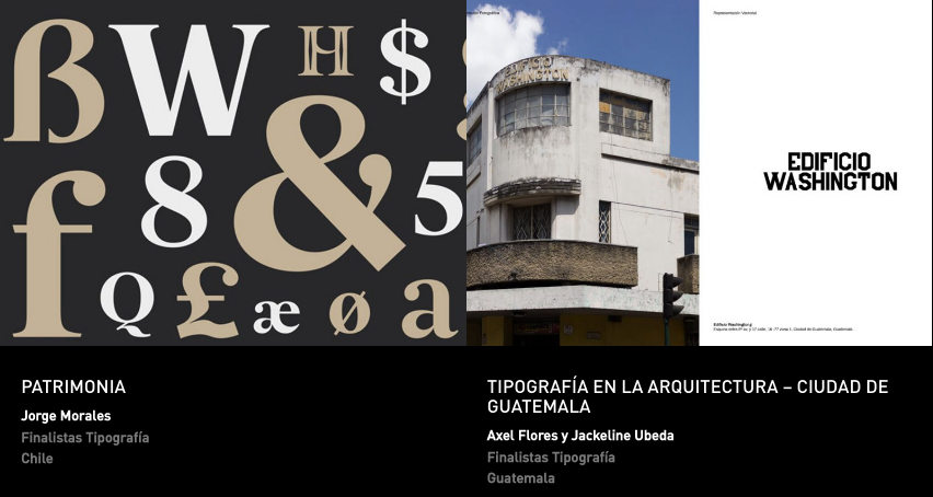 Latin American Design Awards - Tipografía - Estudiantes