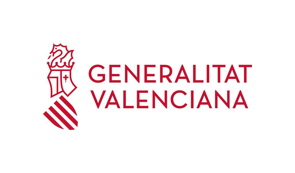 nueva marca Generalitat Valenciana rojo color