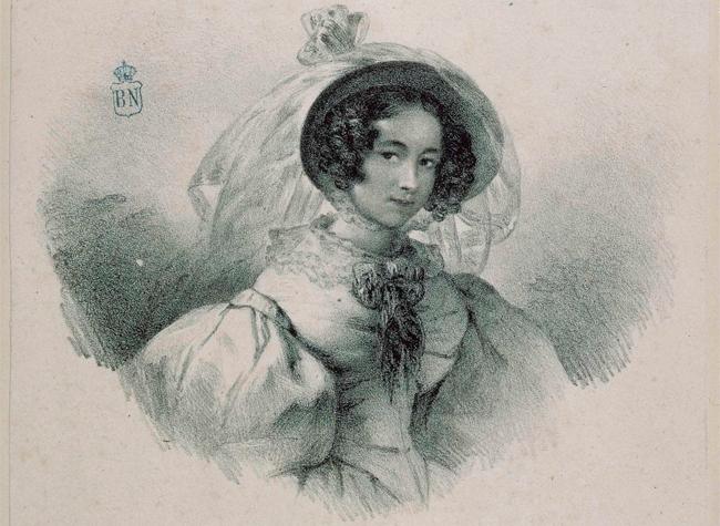 Retrato de Rosario Weiss y Zorrilla - BNE