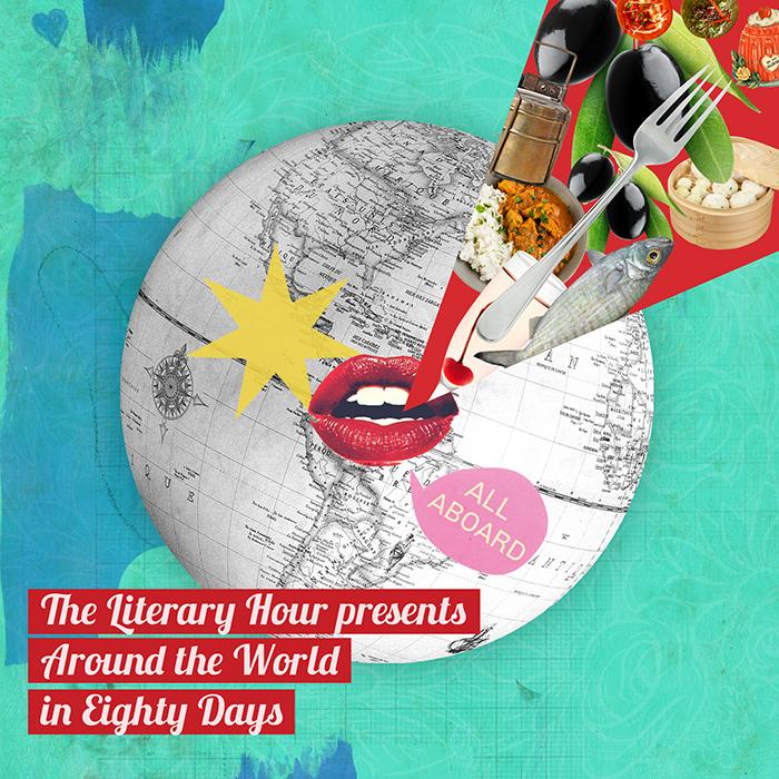 «The Literary Hour es un emprendimiento inglés, donde chefs organizan cenas temáticas en torno a alguna obra literaria. Hice una serie de ilustraciones para promocionar el evento en torno al Ala vuelta al mundo en 80 días de Julio Verne».