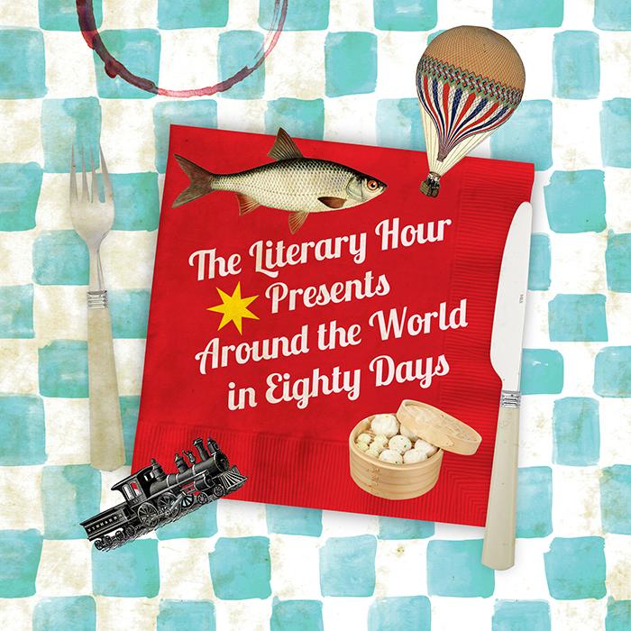 «The Literary Hour es un emprendimiento inglés, donde chefs organizan cenas temáticas en torno a alguna obra literaria. Hice una serie de ilustraciones para promocionar el evento en torno al Ala vuelta al mundo en 80 días de Julio Verne». - 2