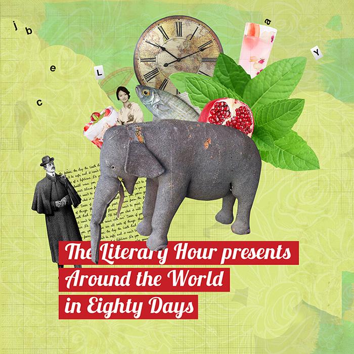 «The Literary Hour es un emprendimiento inglés, donde chefs organizan cenas temáticas en torno a alguna obra literaria. Hice una serie de ilustraciones para promocionar el evento en torno al Ala vuelta al mundo en 80 días de Julio Verne». - 3