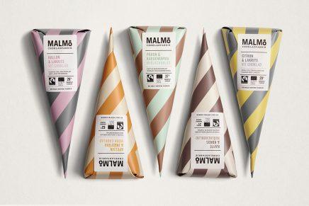 Pond Designviste de rayas al chocolate suecoMalmö gracias a su nuevo packaging