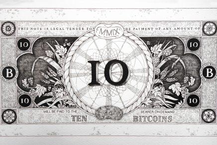 Un estudio crea billetes de bitcoin combinando memes y un antiguo estilo de grabado
