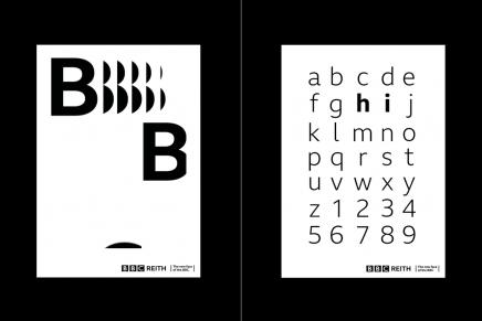 Spin lanza una campaña de carteles animados para la tipografía de la BBC