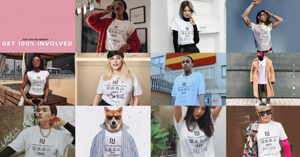 River Island se revela contra las etiquetas sociales en su nueva campaña creada por Studio Blvd