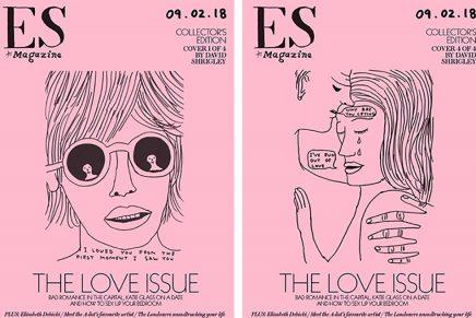 David Shrigley diseña cuatro portadas exclusivas para ES Magazine por San Valentín