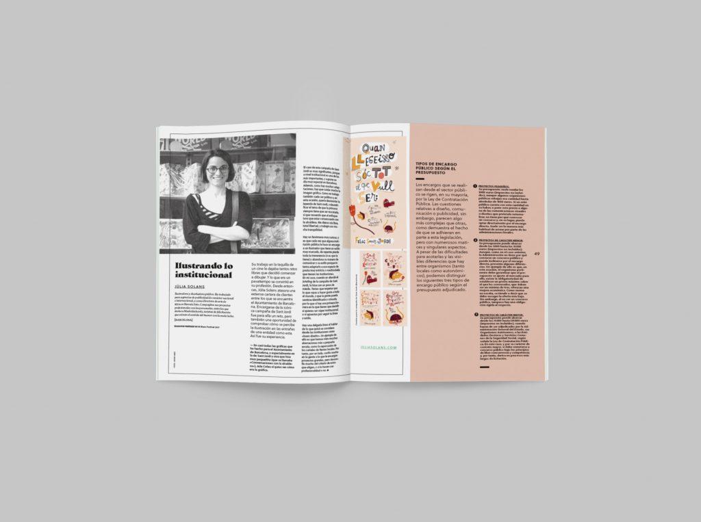 revista graffica 8 Julia Solans mockup dentro revista