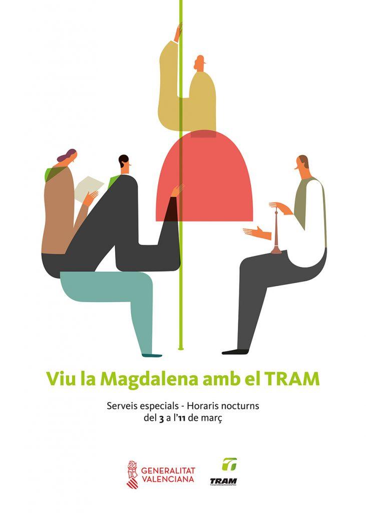 Cartel presentado por la Generalitat para la Magdalena